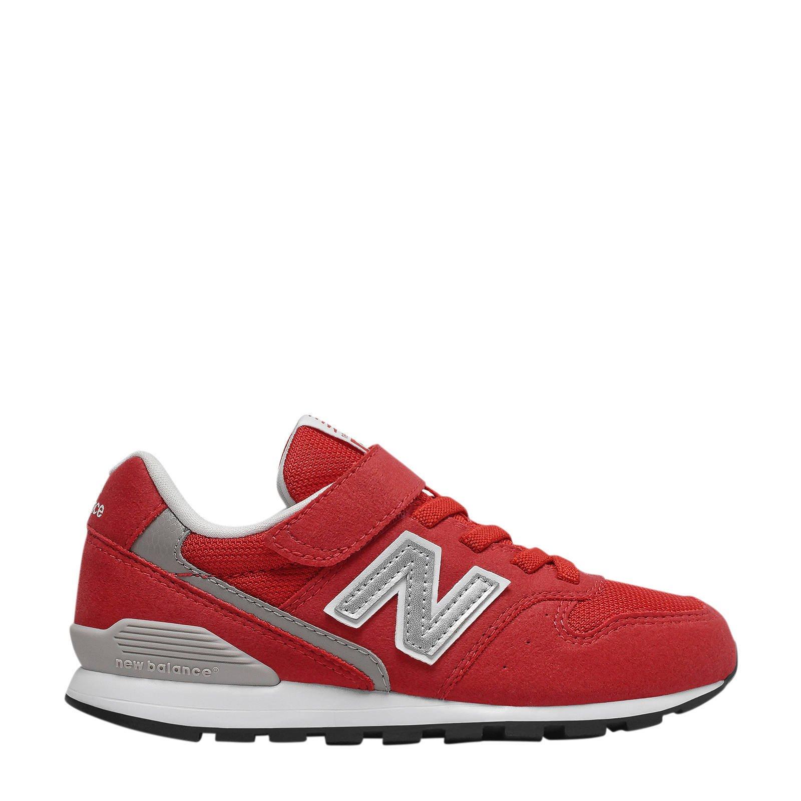 New Balance 996 sneakers rood/zilver   wehkamp