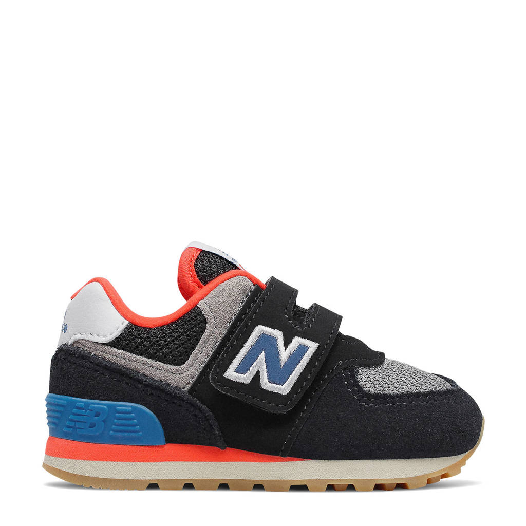 New Balance 574  sneakers zwart/oranje/blauw, zwart/oranje/blauw/grijs