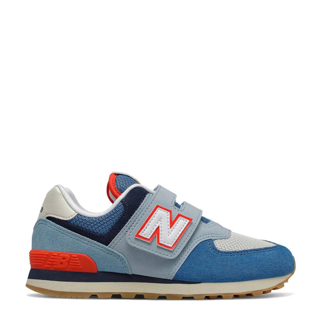 New Balance 574  sneakers blauw/rood, Blauw/rood