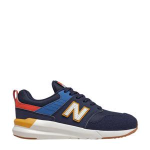 009  sneakers donkerblauw/rood/kobaltblauw
