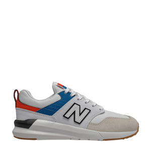 009  sneakers wit/rood/kobaltblauw