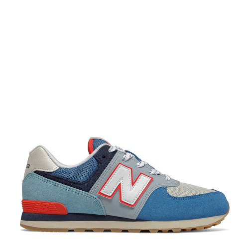 New Balance 574 sneakers blauw/rood