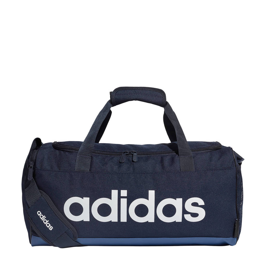 adidas Performance   Linear Duffel S sporttas donkerblauw, Donkerblauw/wit