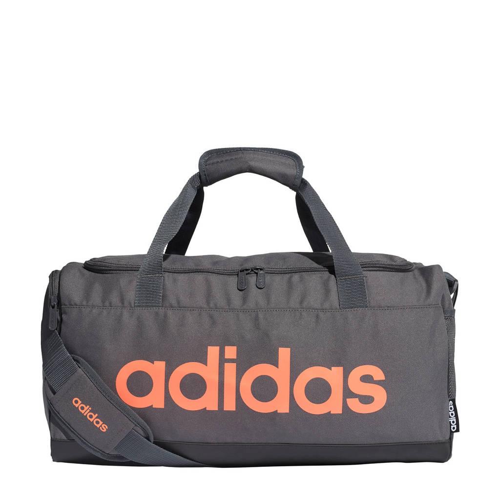 adidas Performance   Linear Duffel S sporttas grijs, Grijs/oranje