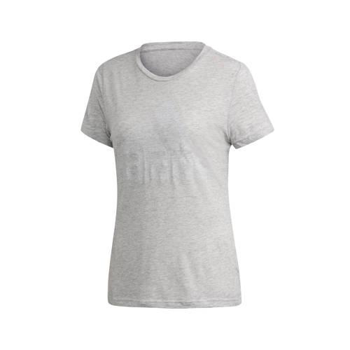 adidas performance sport T-shirt grijs melange