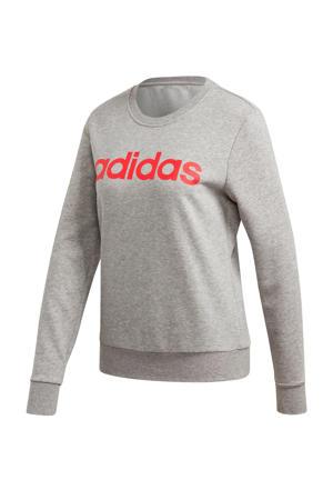 sportsweater grijs melange/rood