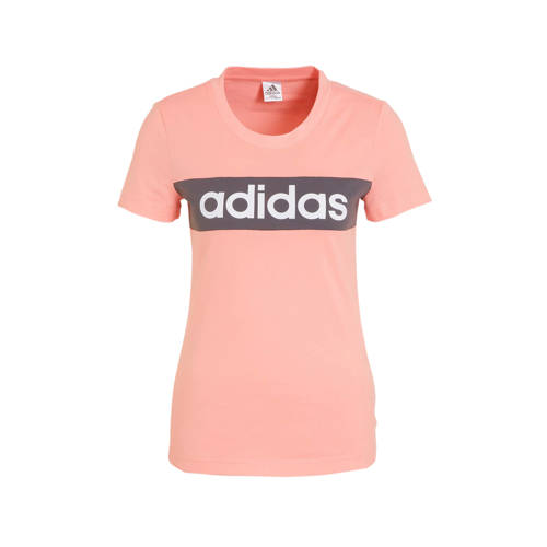 adidas performance sport T-shirt roze-grijs