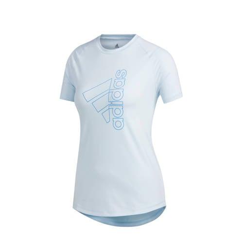 adidas Performance sport T-shirt lichtblauw