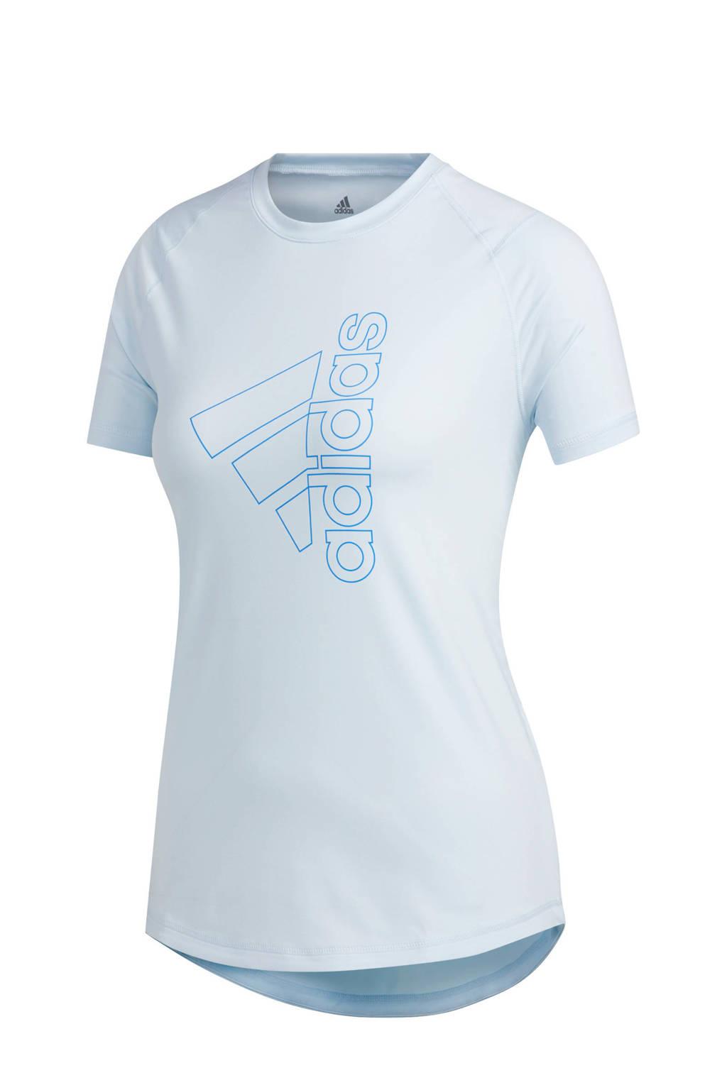 adidas Performance sport T-shirt lichtblauw, Lichtblauw