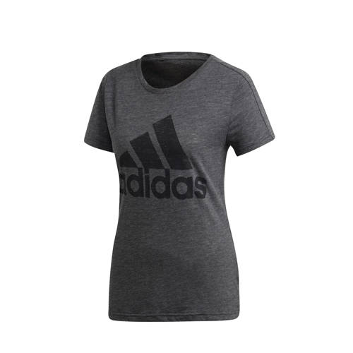 adidas Performance sport T-shirt antraciet