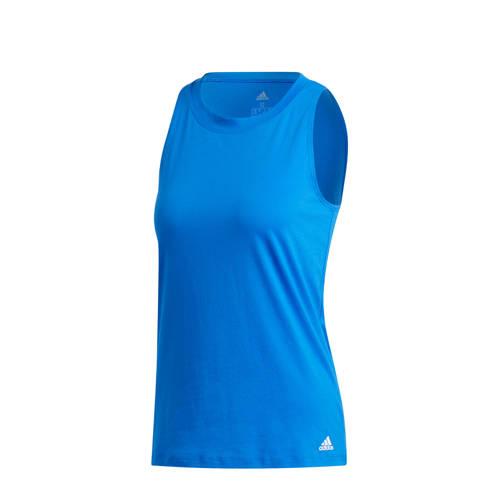 adidas Performance sporttop blauw