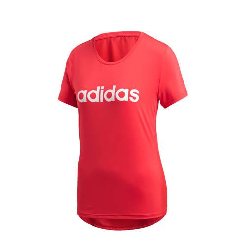 adidas Performance sport T-shirt rood/wit