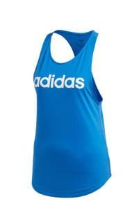adidas Performance sporttop blauw/wit, Blauw/wit