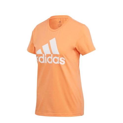 adidas Performance sport T-shirt oranje