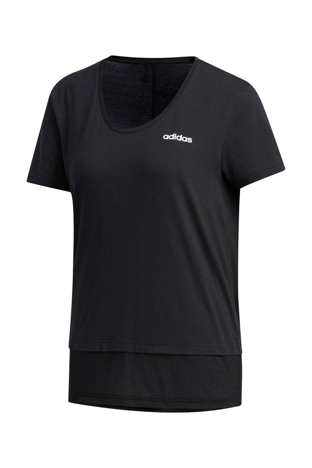 adidas Performance sport T-shirt zwart, Zwart