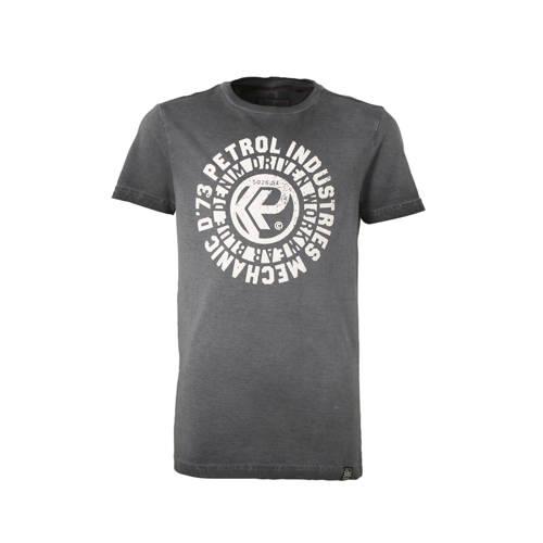 Petrol Industries T-shirt met printopdruk antracie