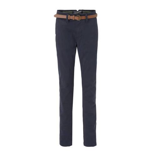 Petrol Industries slim fit broek donkerblauw/bruin