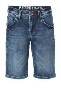 Petrol Industries slim fit jeans bermuda dark denim stonewashed, Dark denim stonewashed