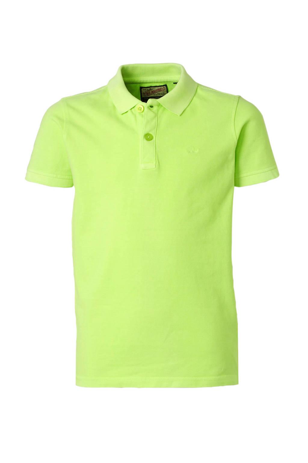 Petrol Industries polo met borduursels neon groen, Neon geel