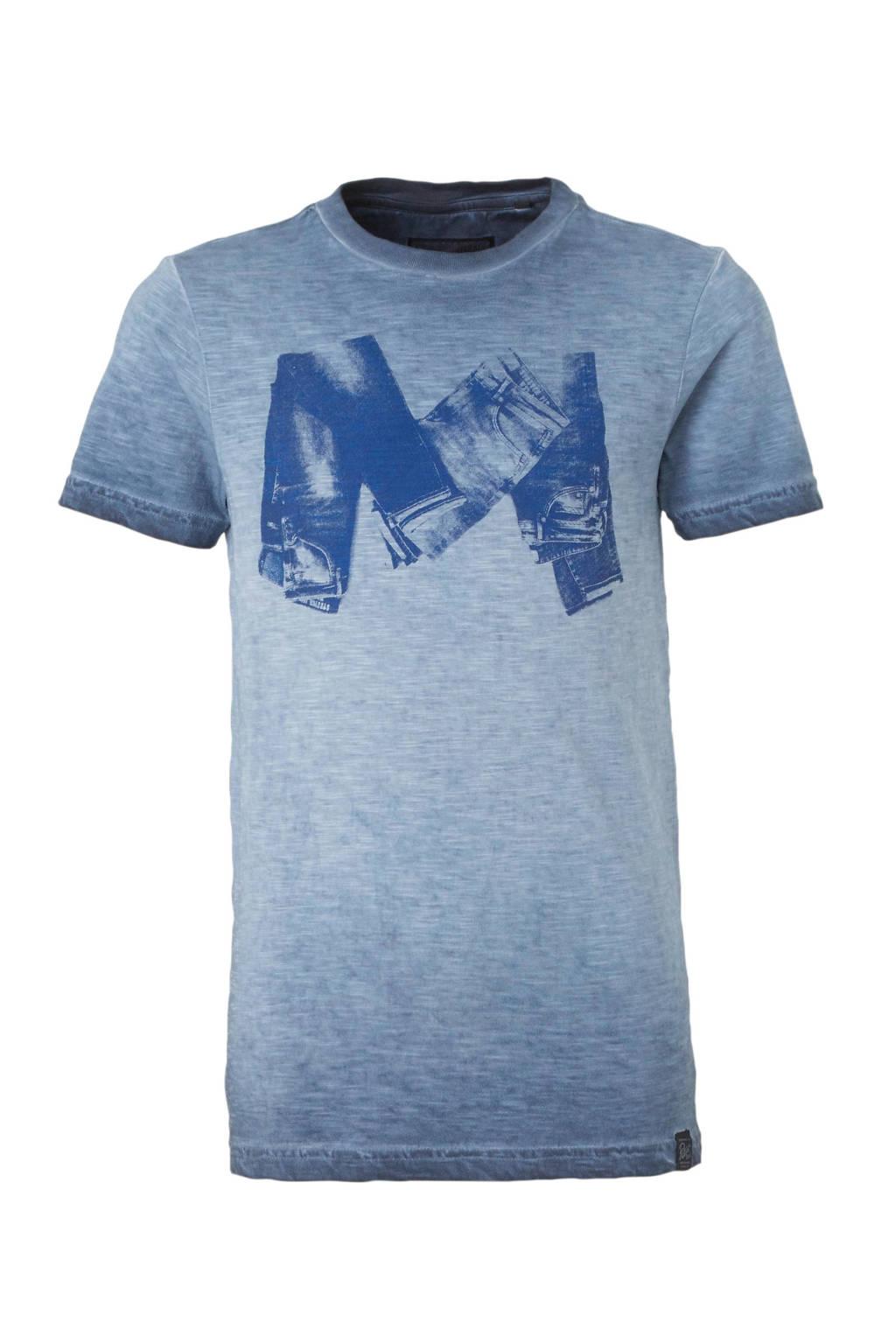 Petrol Industries T-shirt met printopdruk blauw, Blauw