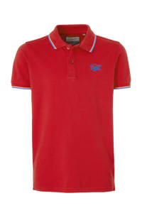 Petrol Industries polo met logo rood, Rood/wit/blauw