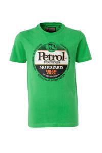 Petrol Industries T-shirt met logo felgroen, Felgroen