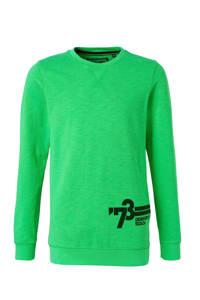 Petrol Industries sweater met printopdruk felgroen, Felgroen