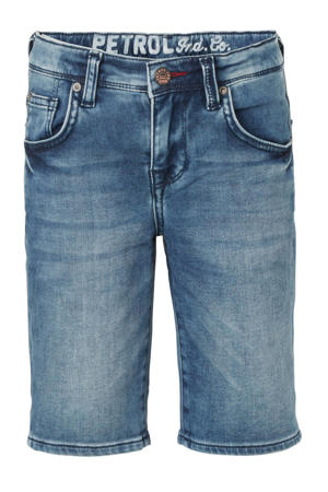 slim fit jeans bermuda stonewashed