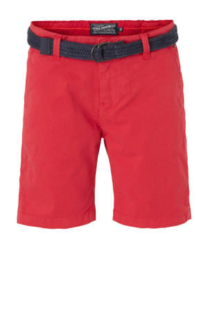 slim fit bermuda rood