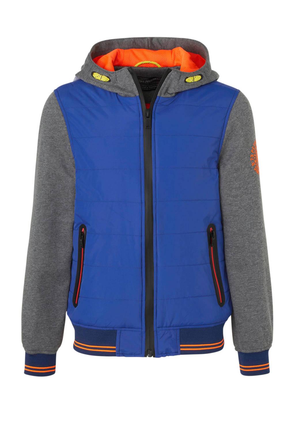 Petrol Industries zomerjas blauw/grijs/oranje, Blauw/grijs/oranje