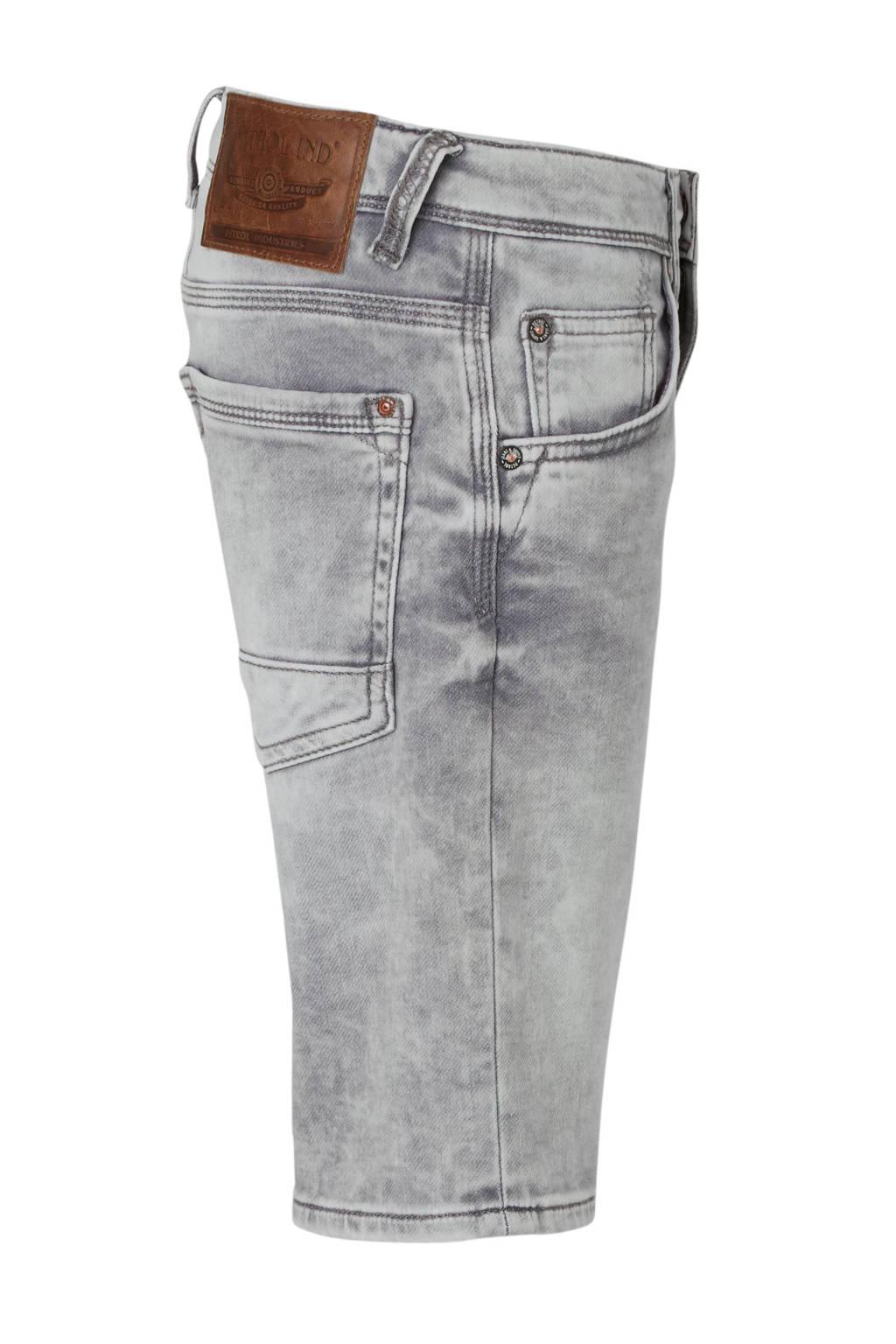 Petrol Industries slim fit jeans bermuda grijs, Grijs