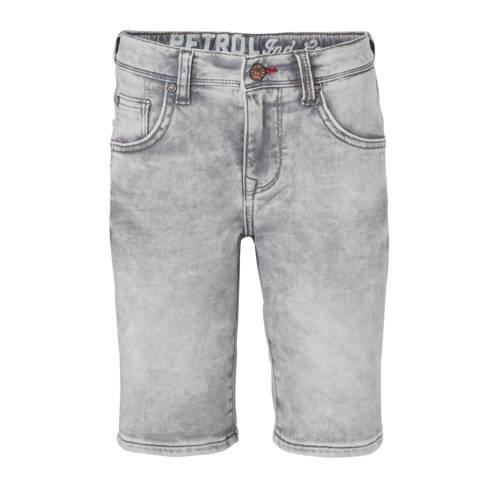 Petrol Industries slim fit jeans bermuda grijs
