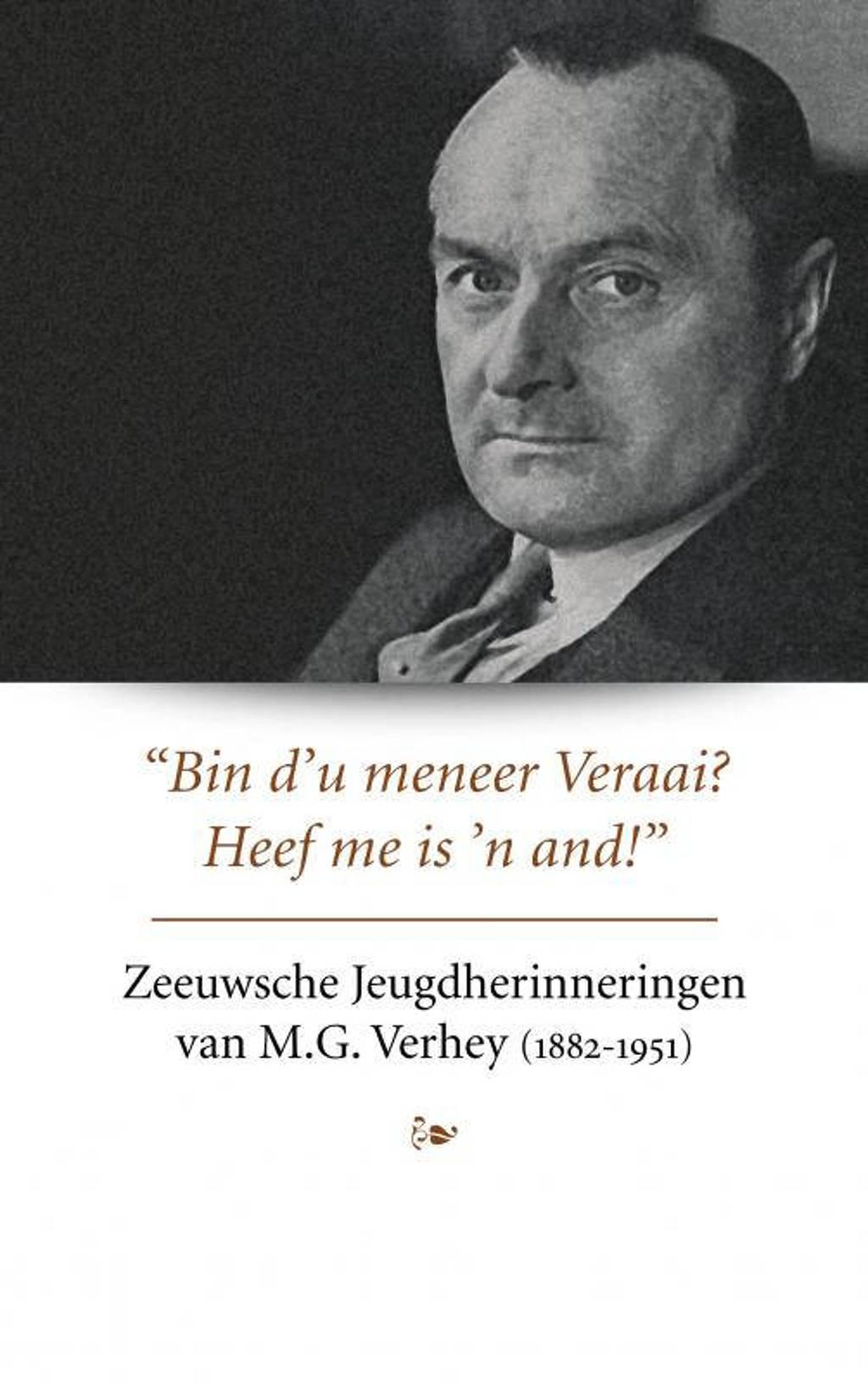 Zeeuwsche Jeugdherinneringen van M.G. Verhey - Herbert Verhey