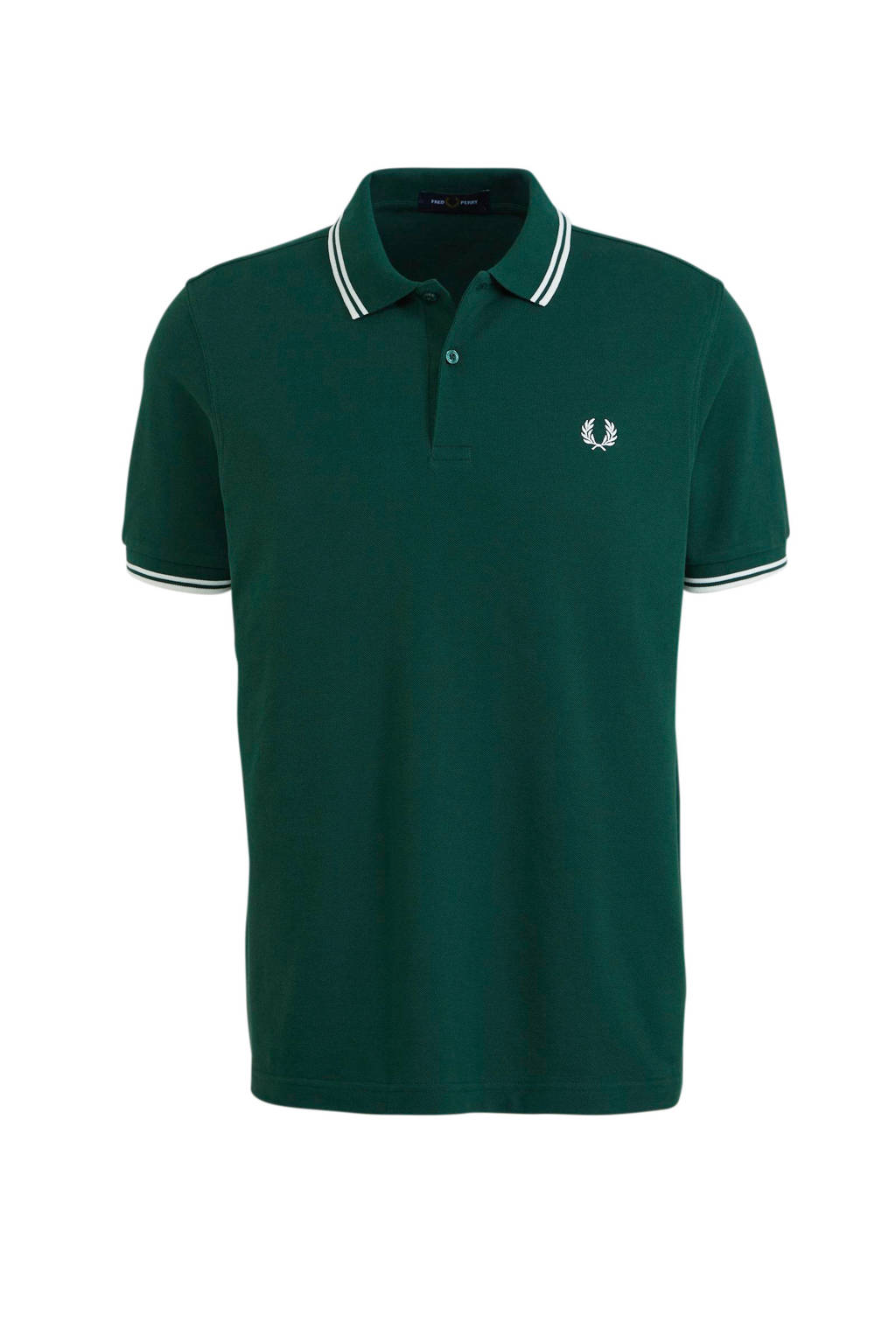 Fred Perry slim fit polo donkergroen, Donkergroen