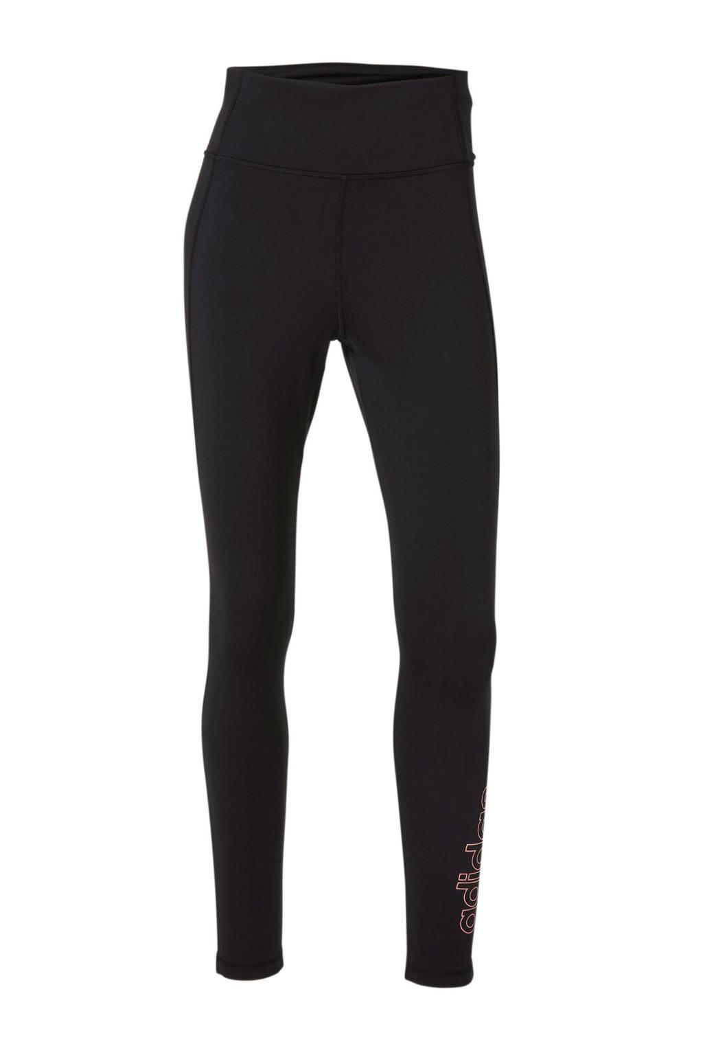 adidas Performance sportbroek zwart, Zwart/roze