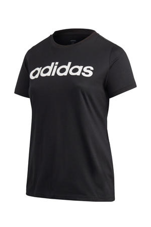 Plus Size sport T-shirt zwart