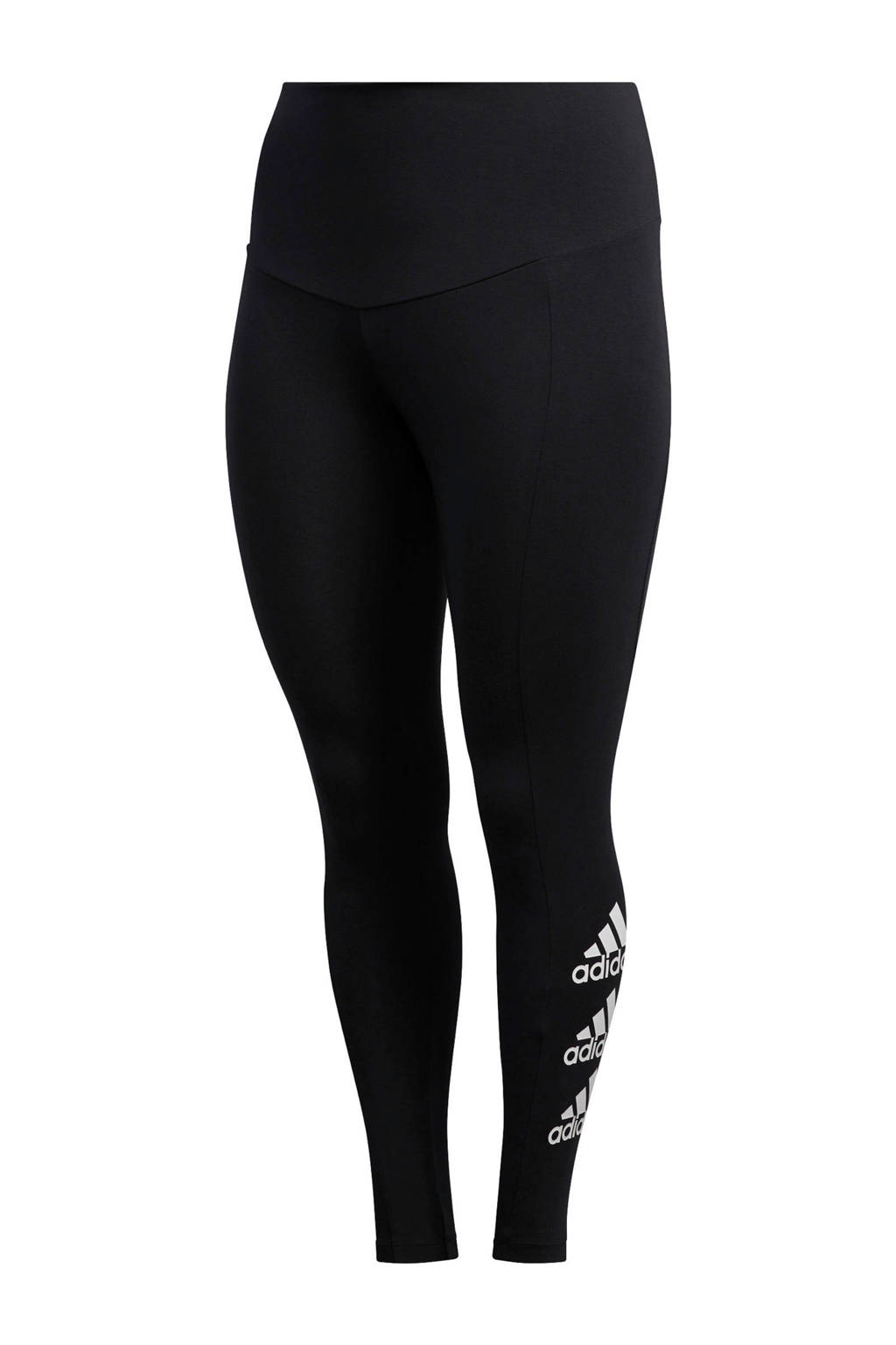 adidas Performance Plus Size sportbroek zwart/wit, Zwart/wit