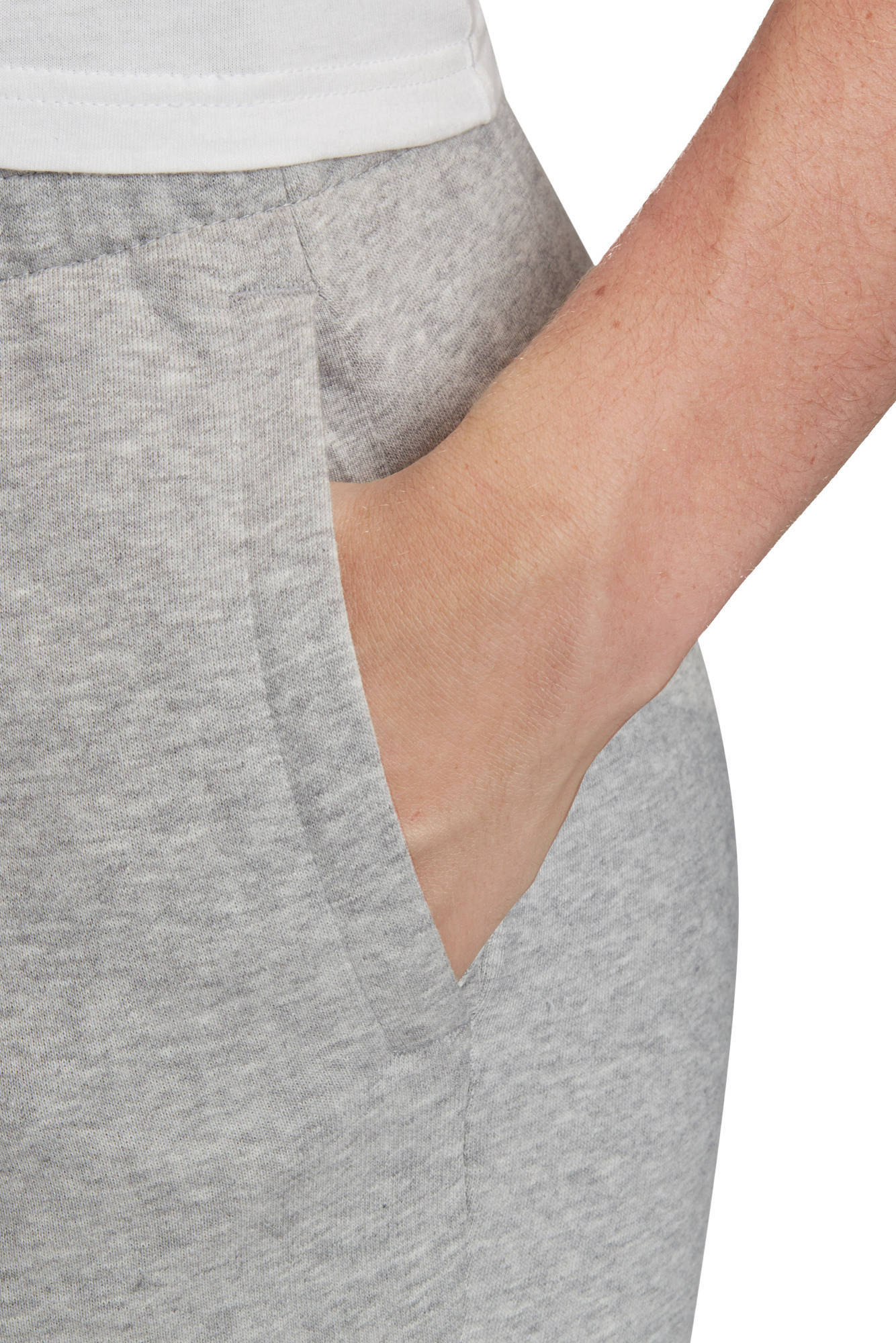 adidas Performance sportbroek grijs melangeroze | wehkamp