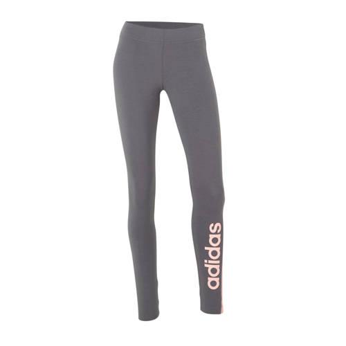 adidas Performance sportbroek grijs/roze