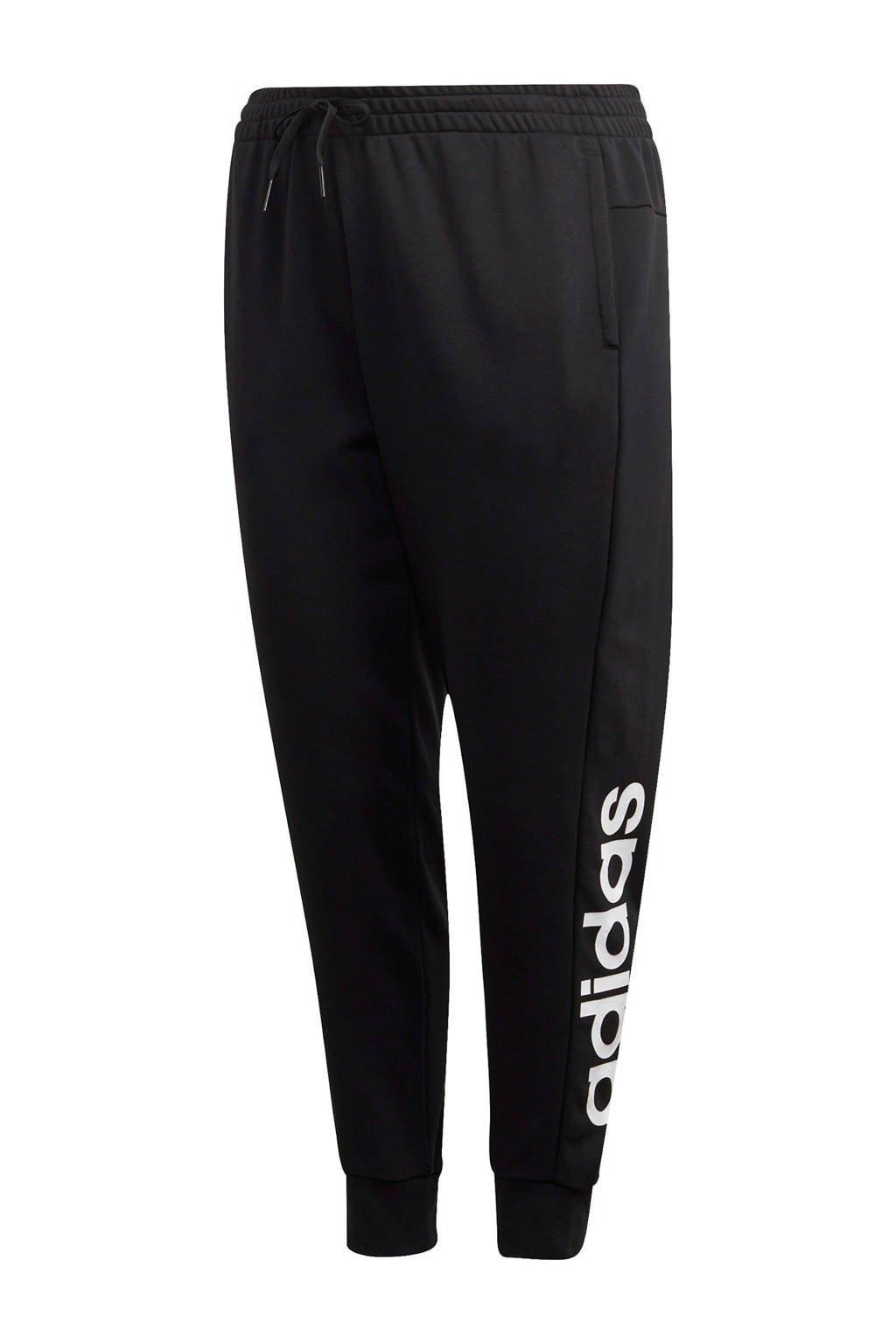adidas Performance Plus Size joggingbroek zwart/wit, Zwart/wit