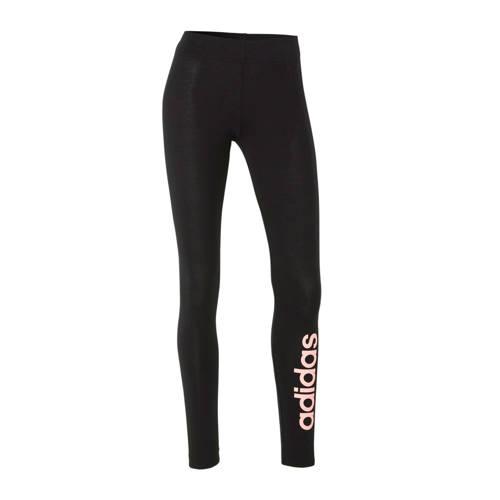 adidas Performance sportbroek zwart/roze