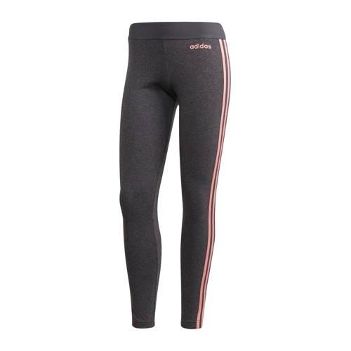 Adidas Legging 3-stripes voor dames grijs-roze