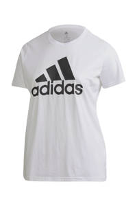 adidas Performance Plus Size sport T-shirt wit, Wit