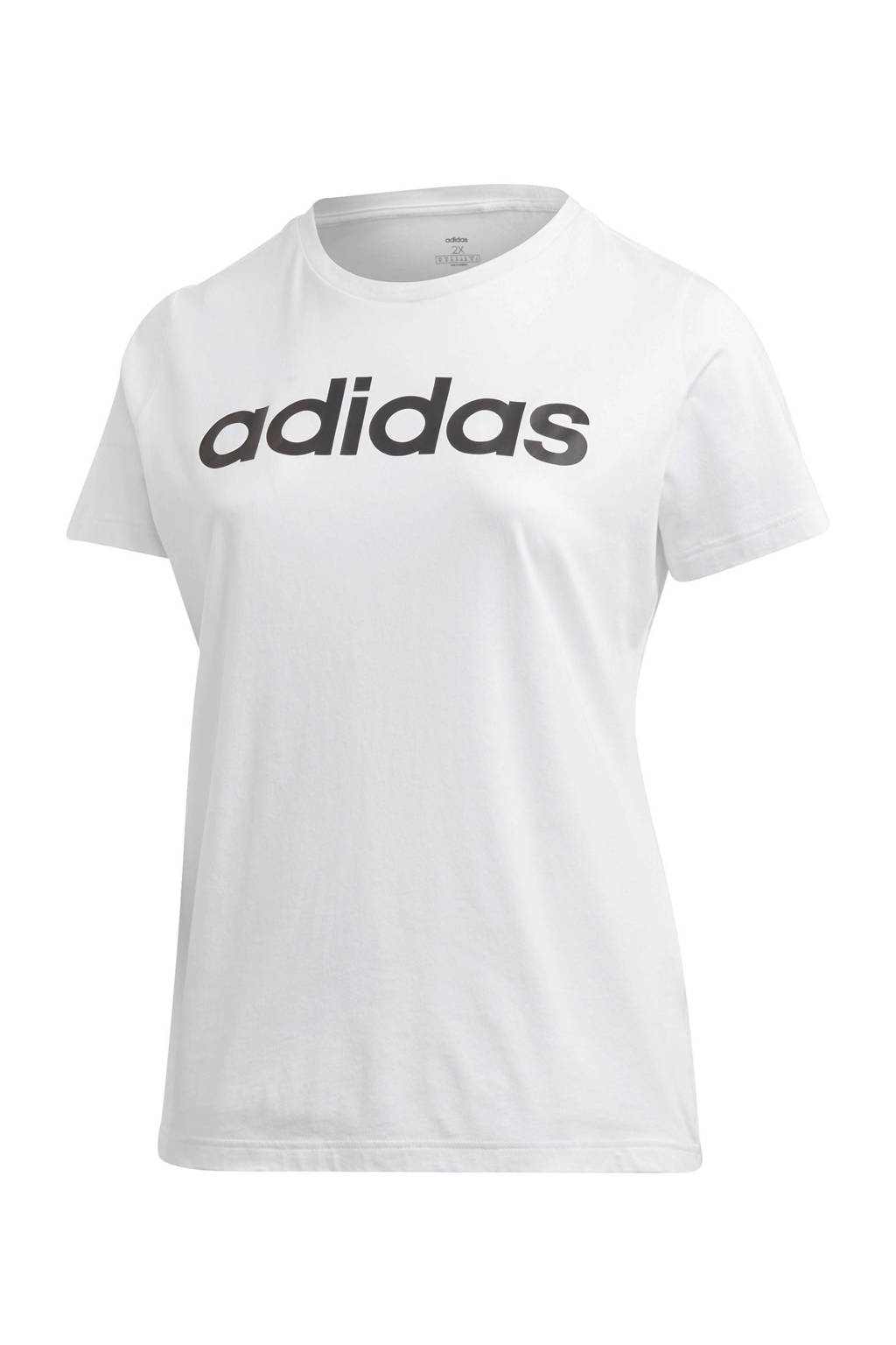 adidas Performance Plus Size sport T-shirt  wit/zwart, Wit/zwart