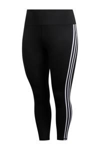 adidas Performance Plus Size Believe This 2.0 7/8 sportbroek zwart/wit, Zwart/wit