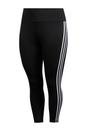 Plus Size Believe This 2.0 7/8 sportbroek zwart/wit