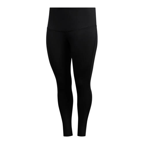 adidas performance Plus Size 7-8 sportbroek zwart