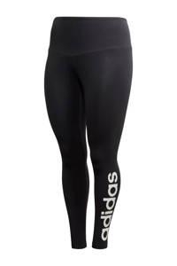 adidas Performance Plus Size sportbroek  zwart/wit, Zwart/wit