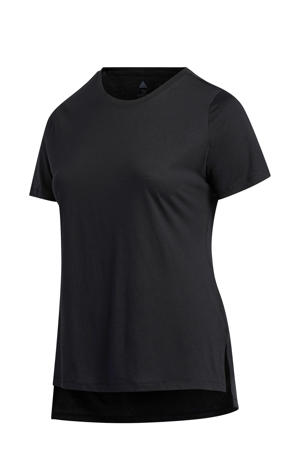 Plus Size sport T-shirt zwart/wit