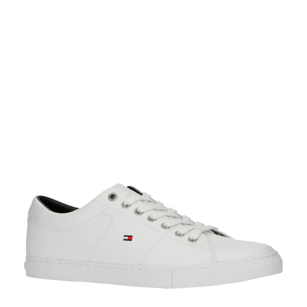 Tommy Hilfiger Essential  leren sneakers wit, Wit